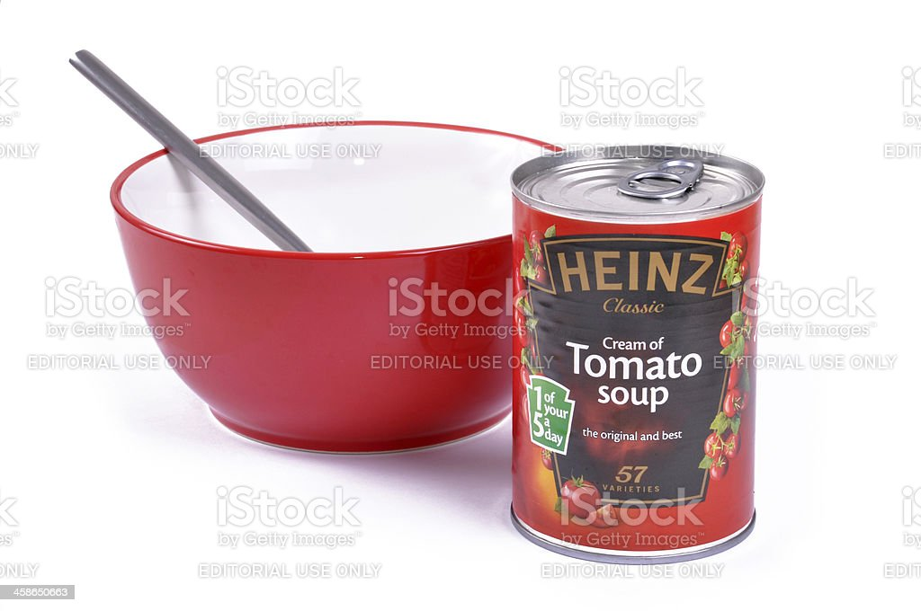 Heinz Soup and Bowl stock photo