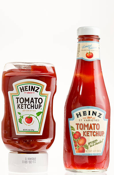 heinz tomato ketchup - heinz stock photos and pictures