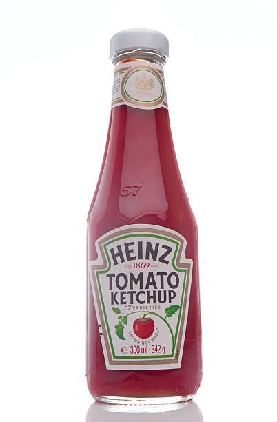 heinz tomato ketchup. - heinz stock photos and pictures