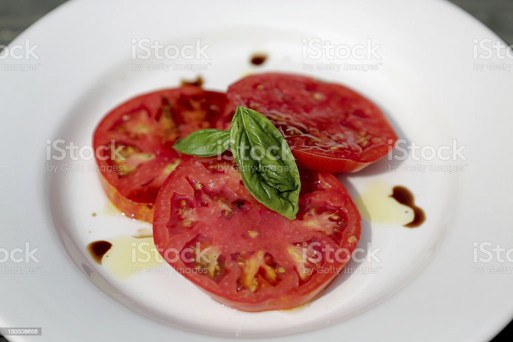 Heirloom Tomato Salad stock photo