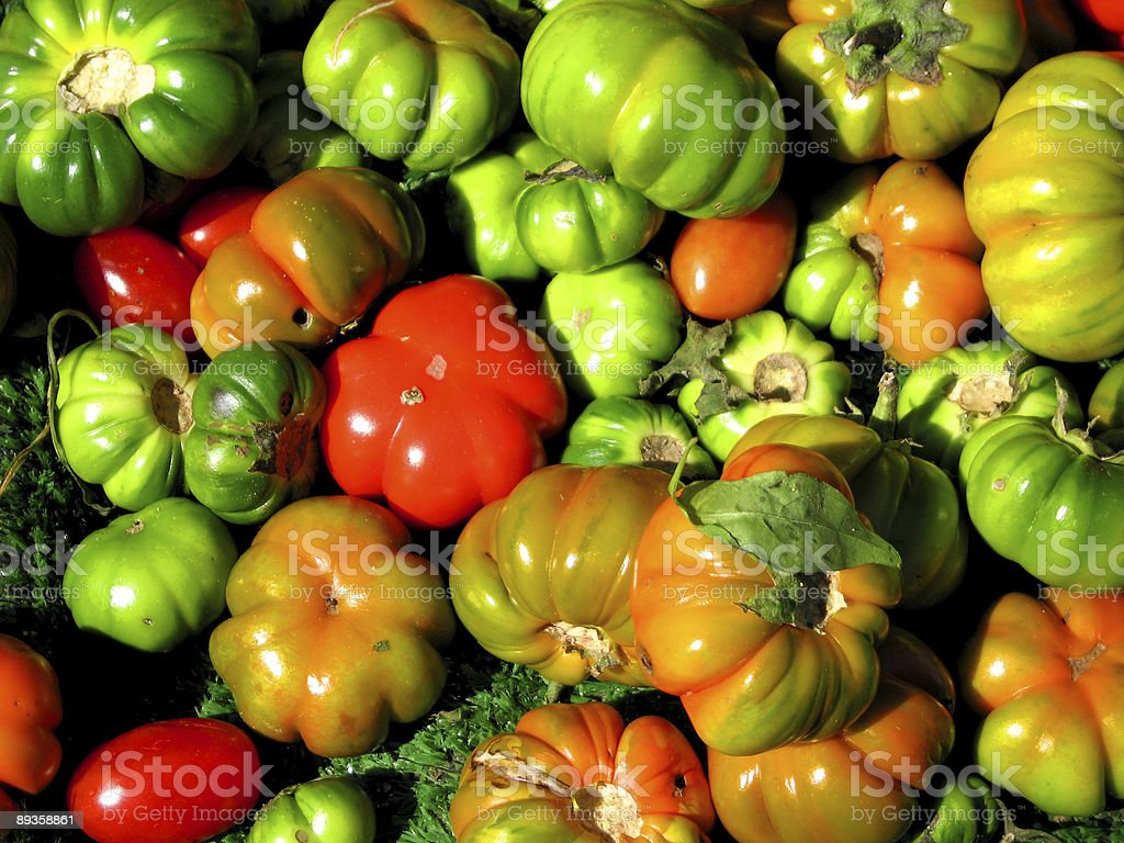 heirloom tomatoes, natural color royalty free stockfoto