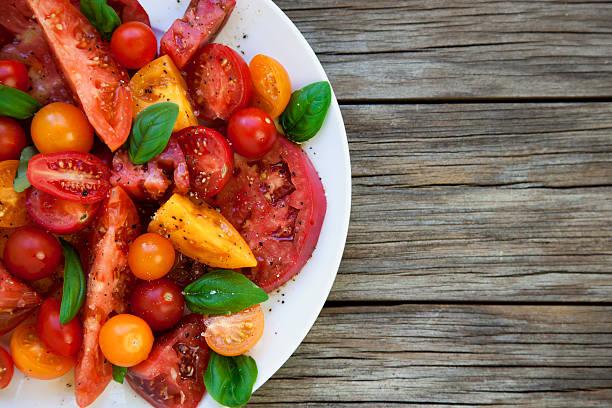 Heirloom tomatos stock photo