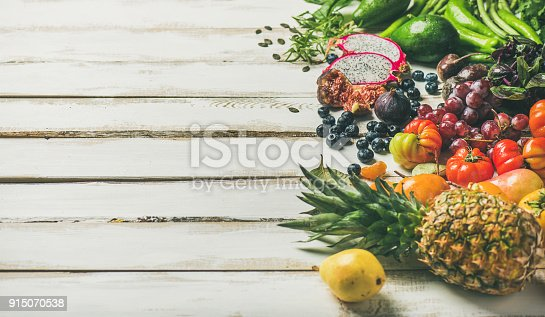 istock Helathy raw vegan food cooking background, copy space 915070538