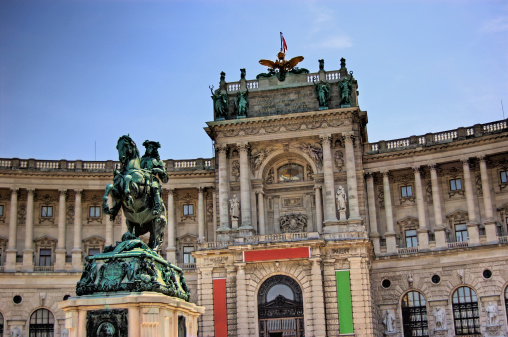 Heldenplatz And Hofburg Vienna Austria Stock Photo - Download Image Now