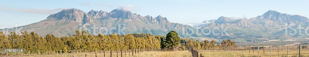 Helderberg and part of the Hottentos-Holland Mountains stock photo