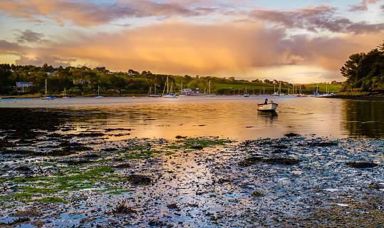 Helford River towards Helford Passage, Cornwall, UK