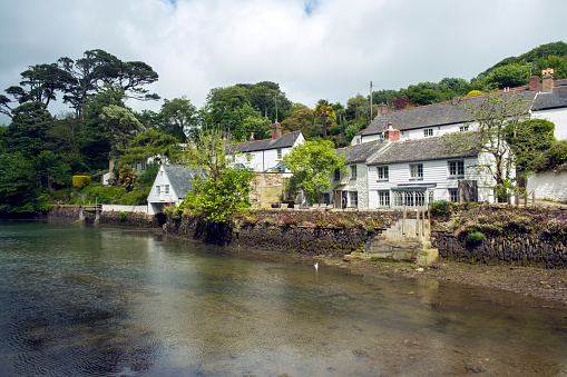 Helford village on the Helford Estuary in Cornwall, UK