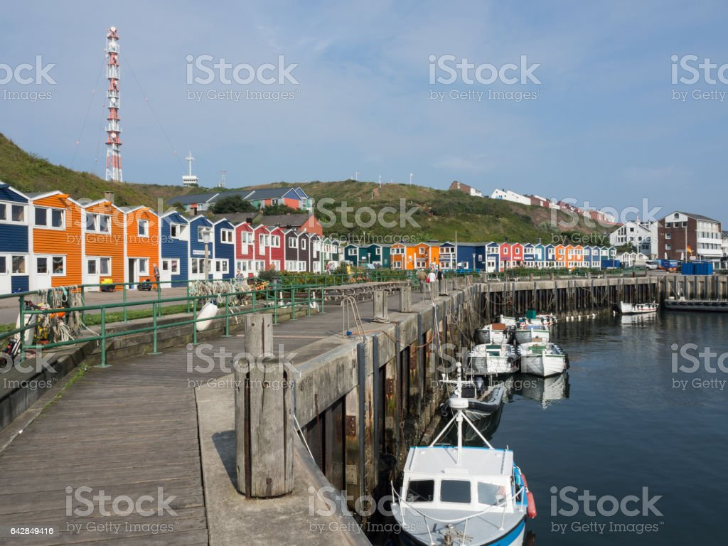 helgoland in germany stock photo