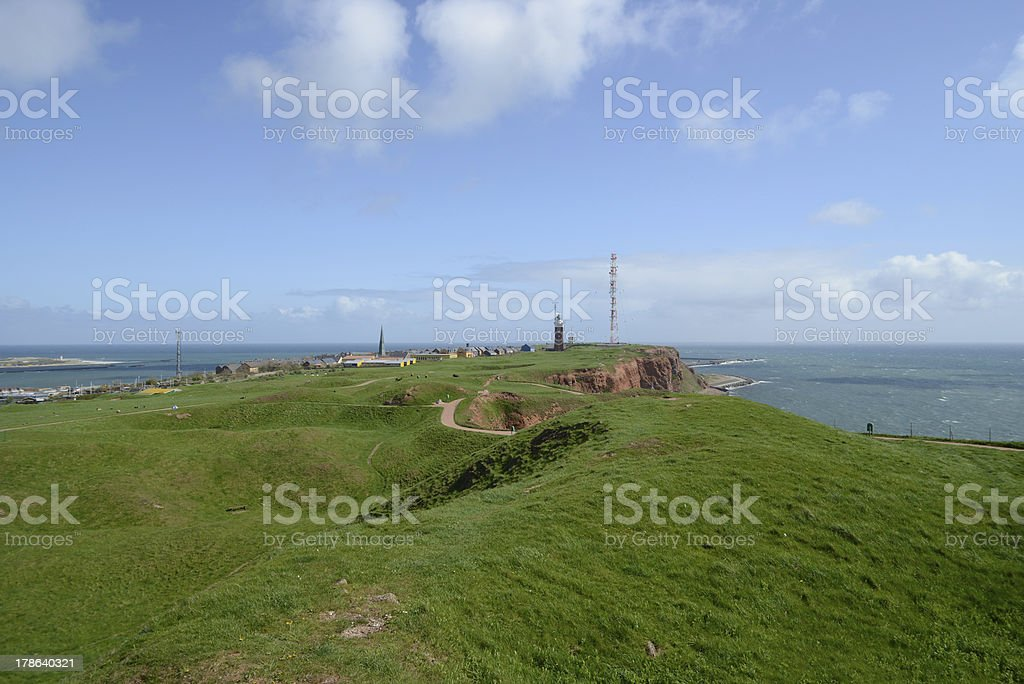 Helgoland overview Germany stock photo