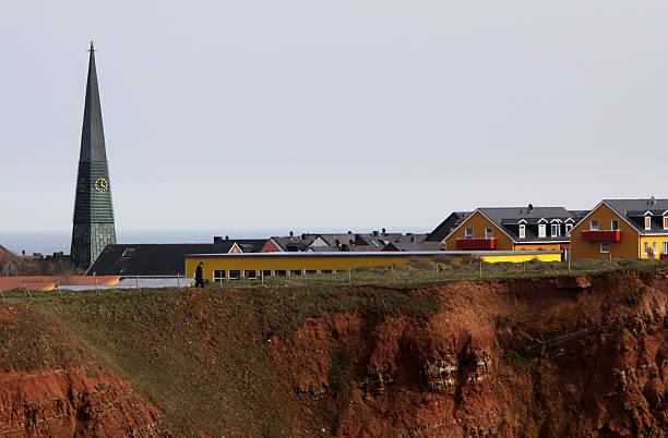 Helgoland mit Kirche und Schule – Foto
