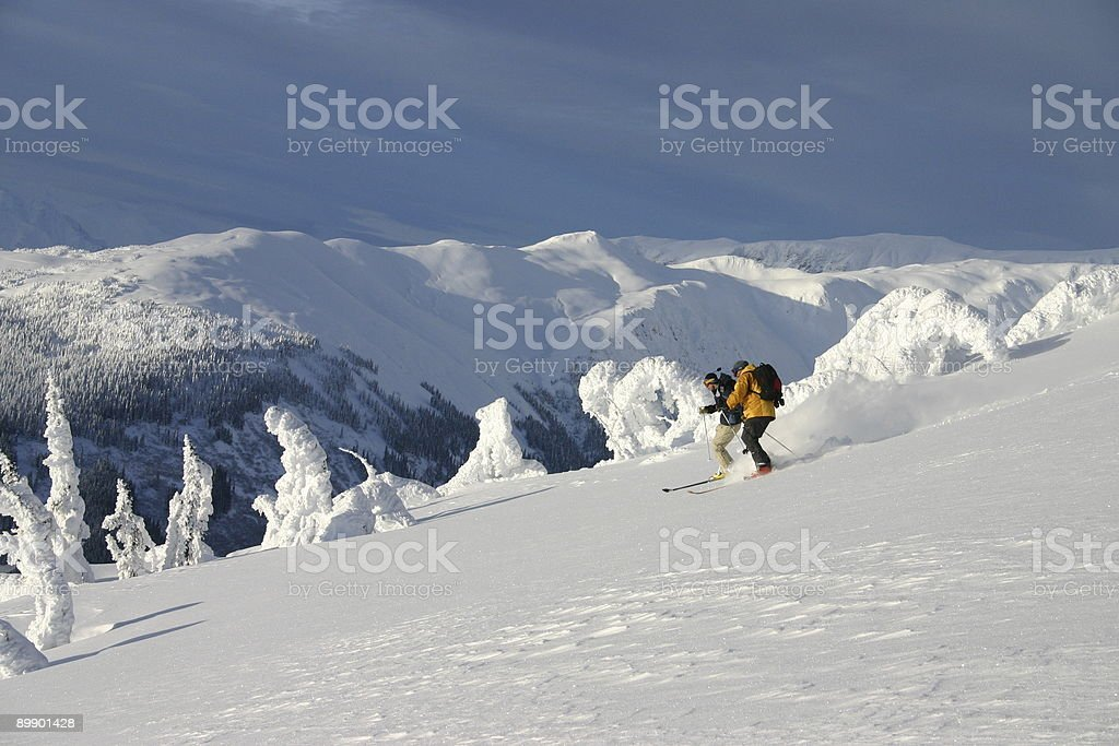Heli - Skiing 5 royalty-free stock photo