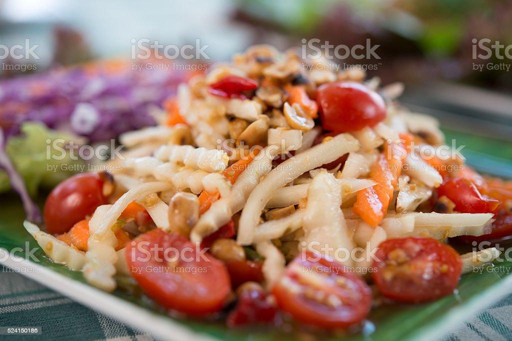 Helianthus tuberosus spicy salad healthy stock photo