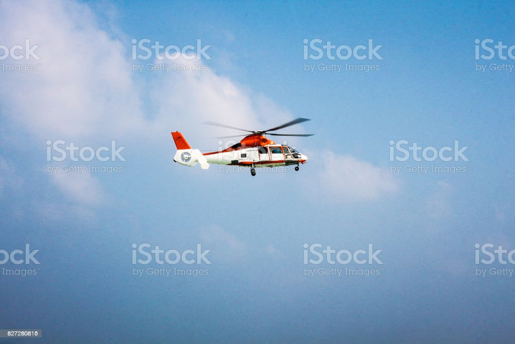 Helicopter 2 stock photo