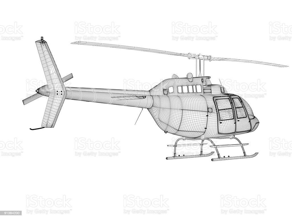 Elicottero 3d Model : Finger rock d puzzles modello metal huey elicottero