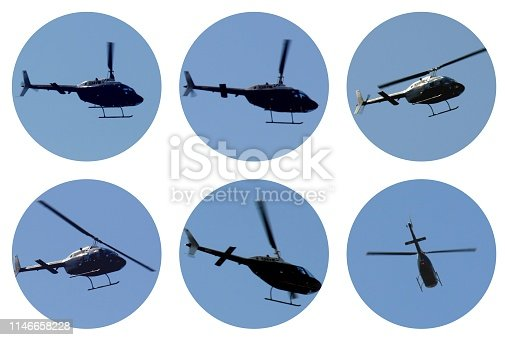 istock Helicopter aircraft collage 1146658228
