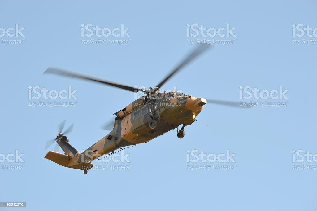 UH 60 Helicopter BlackHawk stock photo
