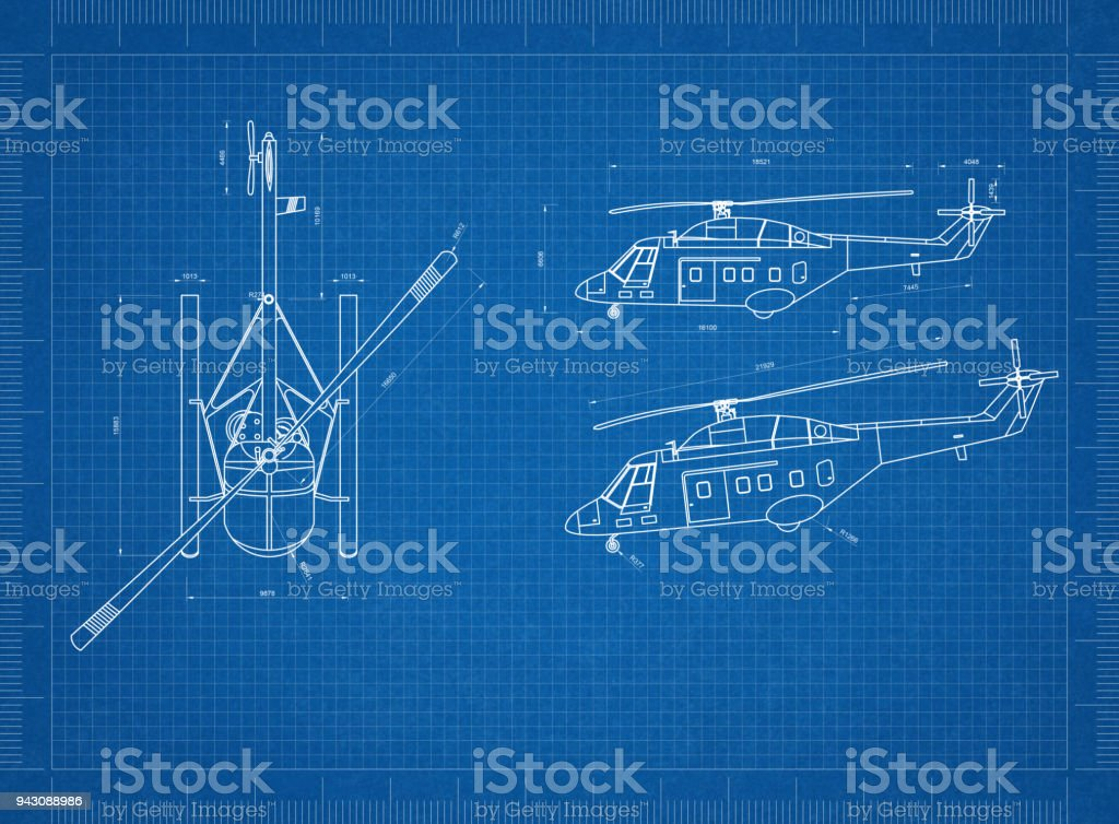 Helicopter blueprint stock photo more pictures of air vehicle istock helicopter blueprint royalty free stock photo malvernweather Images
