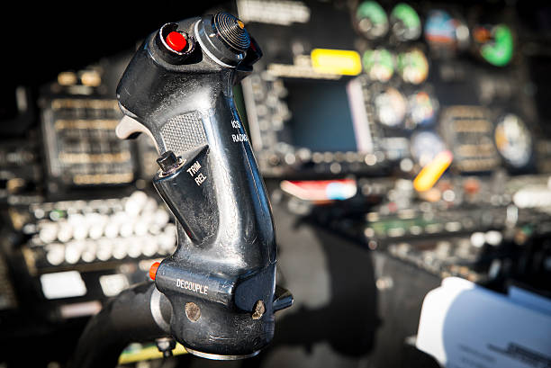 helicopter cockpit - cyclic stock pictures, royalty-free photos & images