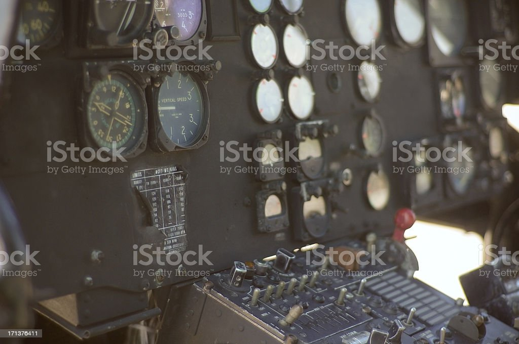 Helicopter control panel royalty-free stock photo