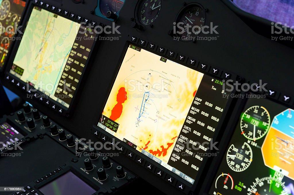 Hubschrauber control panel – Foto