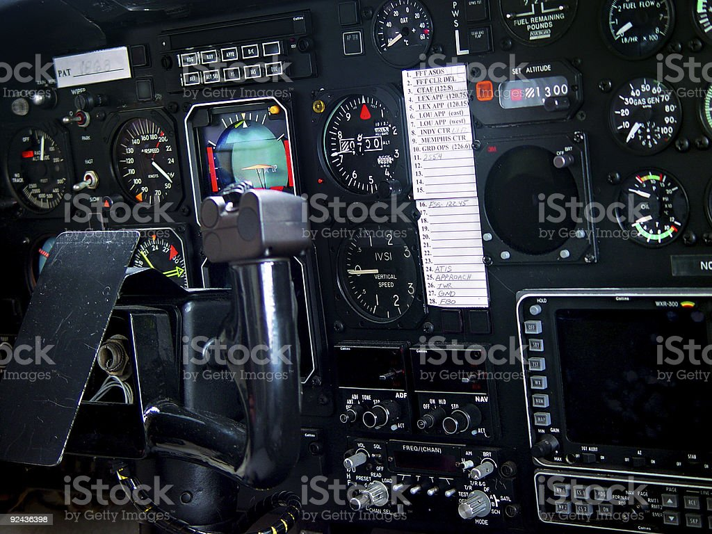 Helicopter Controls royalty-free stock photo