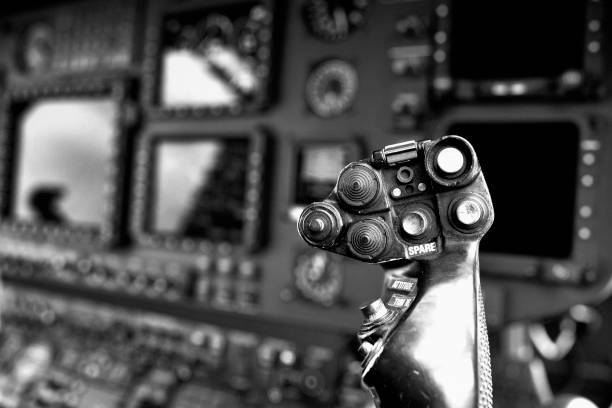helicopter cyclic stick - cyclic stock pictures, royalty-free photos & images