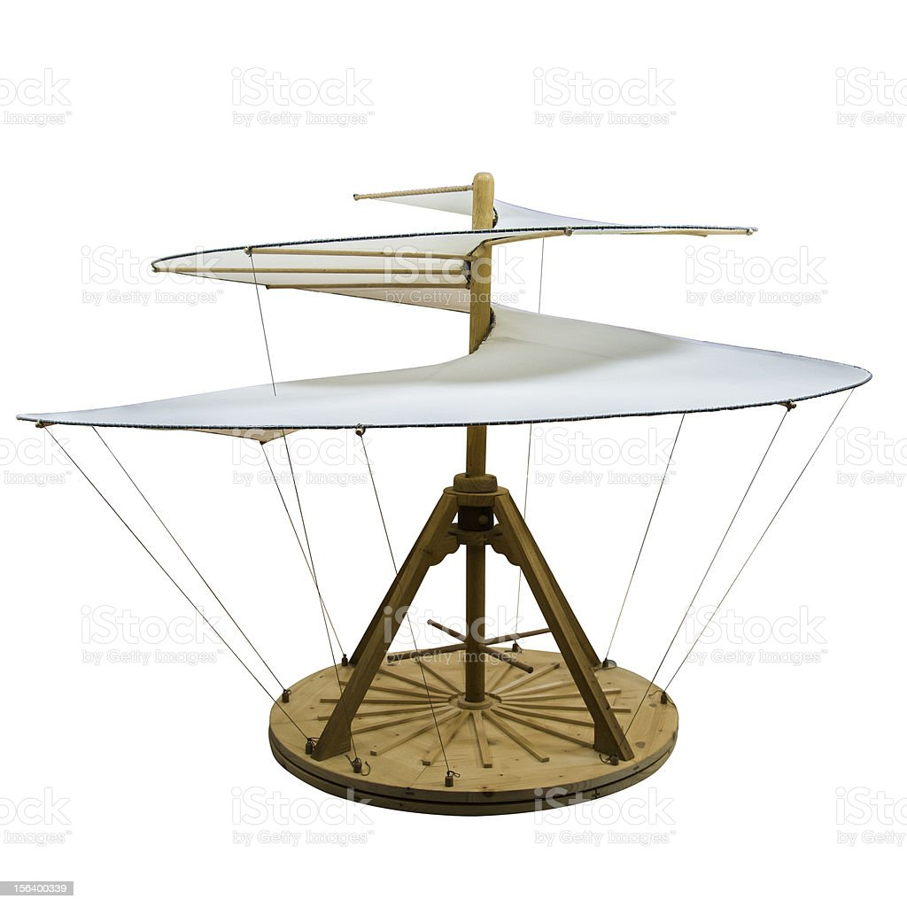 Elicottero Leonardo Da Vinci : Fotografía de helicóptero da vinci la genialidad aislado
