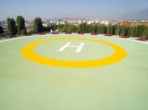 Hubschrauber-deck – Foto