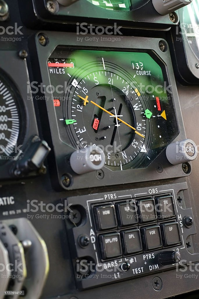 Helicopter Detail. Cockpit. royalty-free stock photo