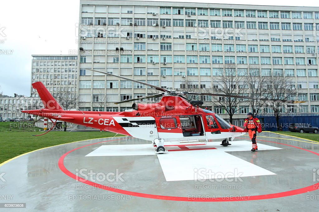 Helicopter Emergency Medical Servic - foto de stock