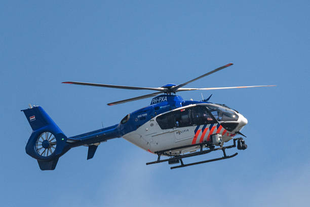 Helicopter Eurocopter - EC135 of the Dutch Police Aviation Service - foto stock