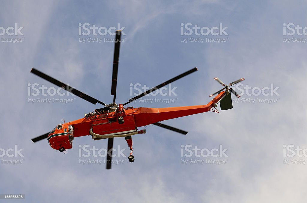 Helicopter Fire royalty-free stock photo