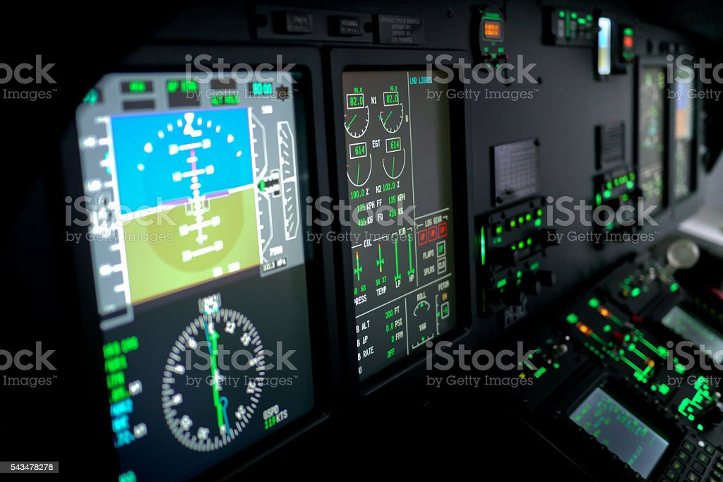 Helicopter Flight Display stock photo