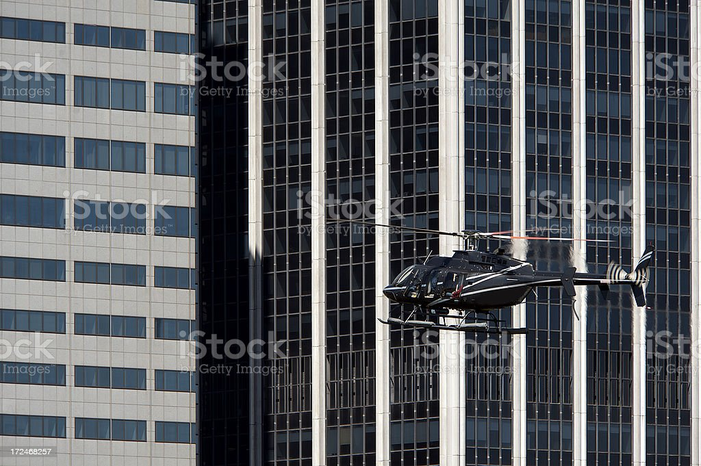 Helicopter flight royalty-free stock photo