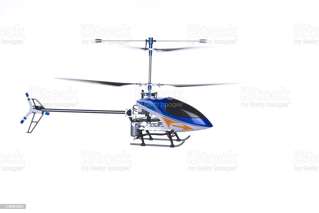 RC Helicopter Fly By stock photo