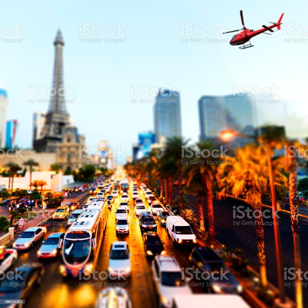 Hubschrauber fliegen über Las Vegas – Foto