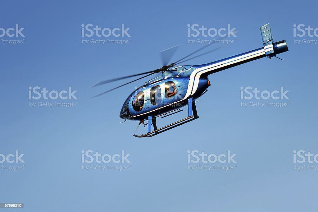 Helicopter Flying royalty free stockfoto