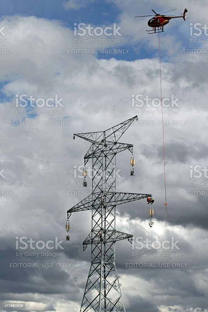 Helicopter in Construction stock photo