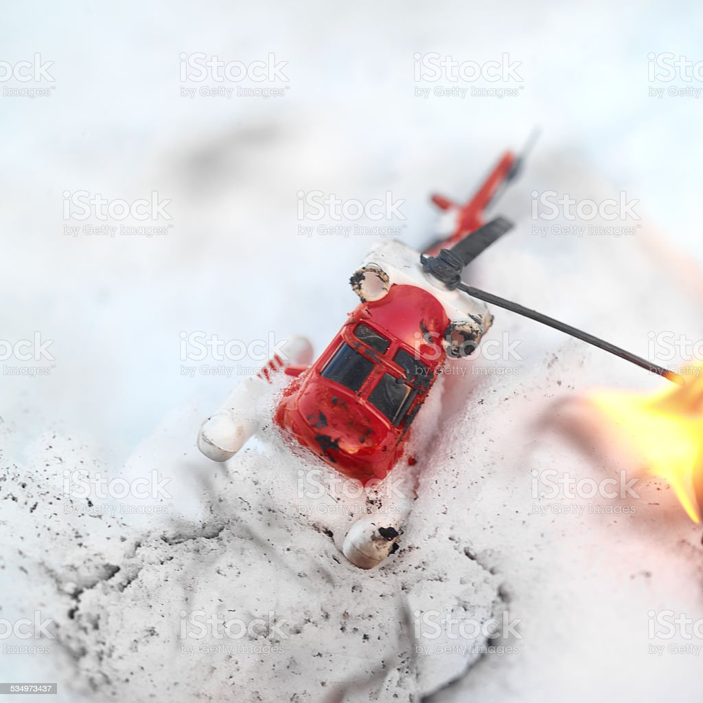 Helicóptero de fogo - foto de acervo