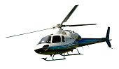 istock Helicopter in flight isolated against white 485462644