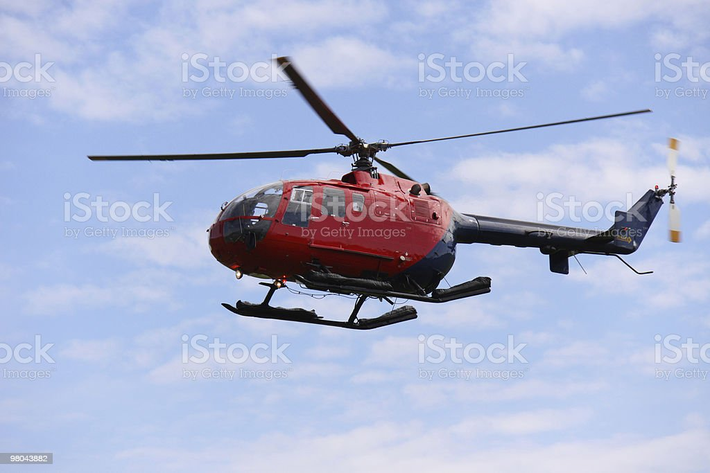 Helicopter in flight royalty-free stock photo