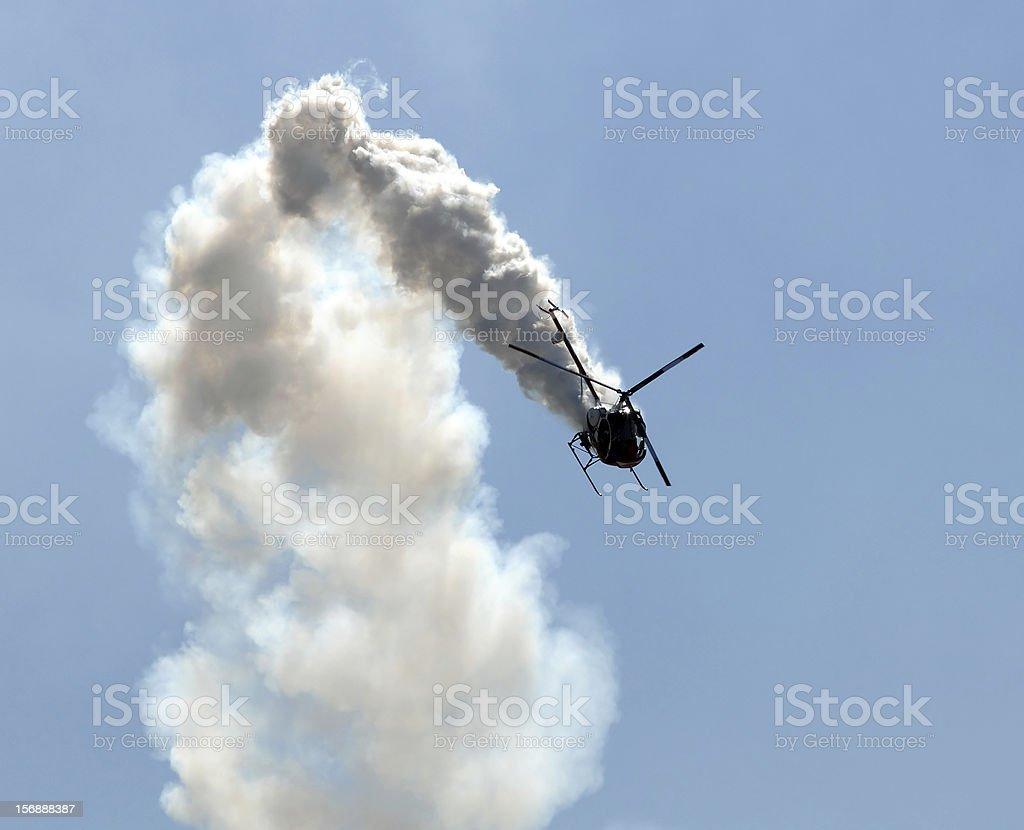 Helicóptero de fumaça - foto de acervo