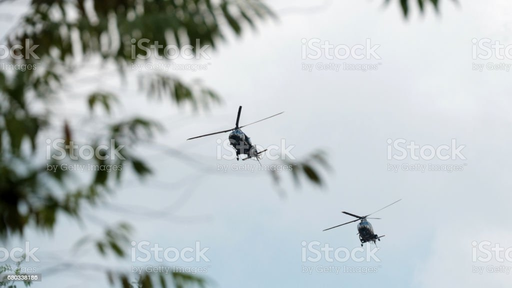 Helicopter in the sky royalty-free stock photo