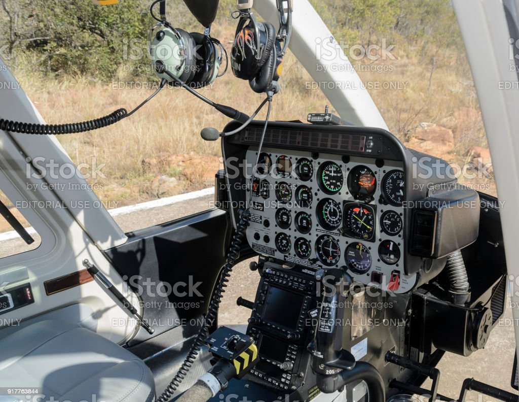 Helicopter Instruments Panel stock photo
