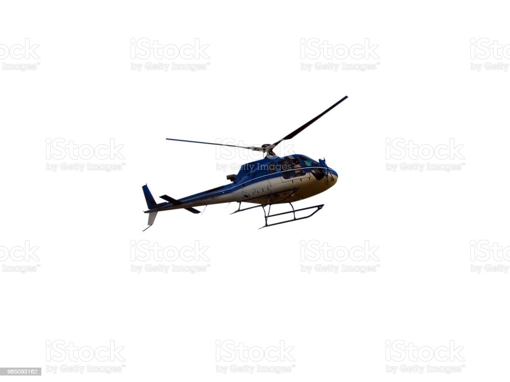 Helicopter isolated on white royalty-free stock photo
