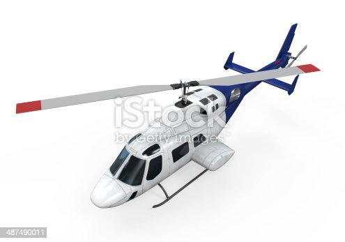 istock Helicopter Isolated 487490011