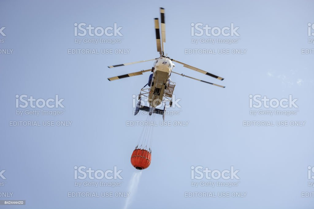 Helicopter Kamov Fire stock photo