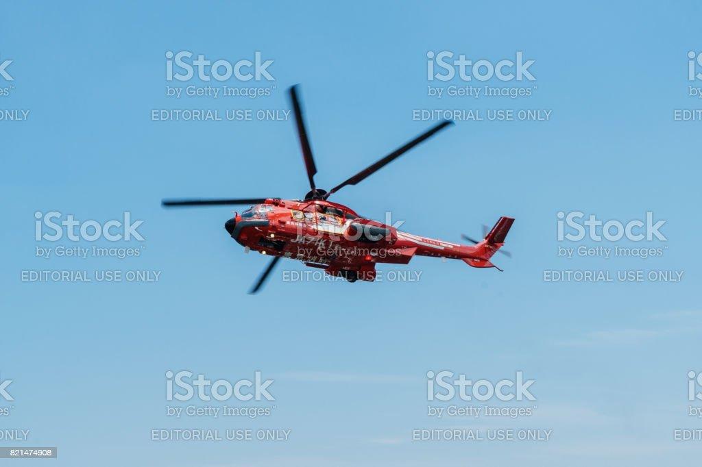 「こうのとり」東京消防航空隊のヘリコプターします。 ストックフォト