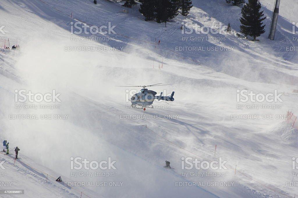 Heliponto na pista de esqui - foto de acervo