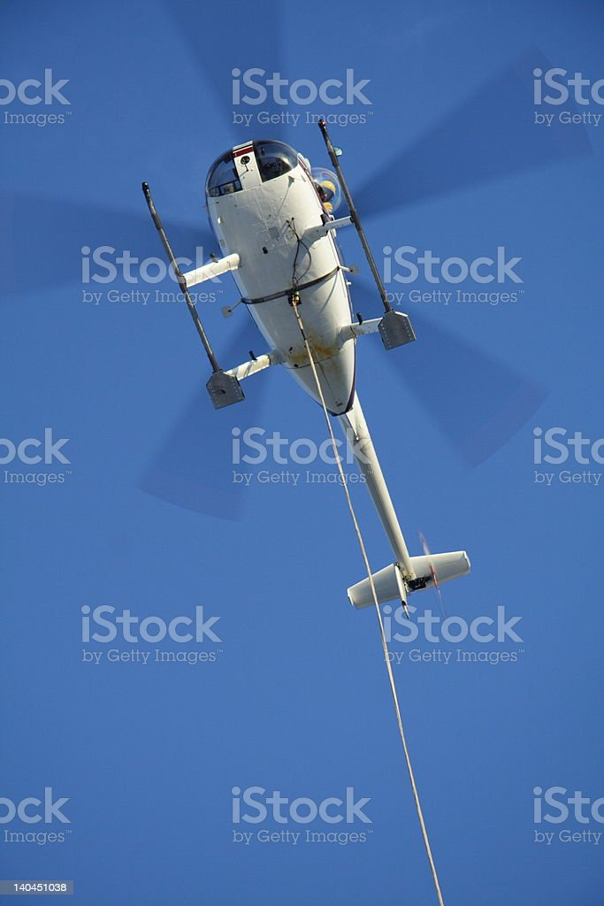Helicopter Long-Lining royalty-free stock photo